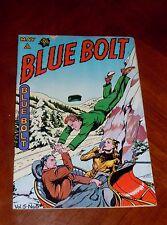 Blue Bolt Vol.5 No.8 (Novelty Press 1945) Fine- cond. (5.5) Super Gloss!