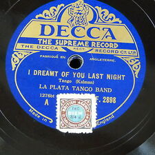 78rpm LA PLATA TANGO BAND i dreamt of you last night / will you think of me