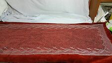 Crochet Lace Table Runner Silver Cotton Embroidery Lace Runner