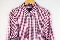 Gant Heather Oxford Men Casual Shirt Regular Fit Check Cotton size XL 43/44 17.5