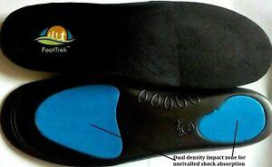 FootTrek Insoles Orthotic Shoe Inserts Arch Support Plantar Fasciitis Flat Feet