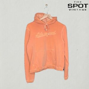 Women's Life Is Good Pullover Spell Out Hoodie Peach Size Medium