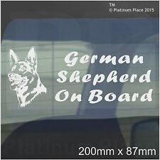 German Shepherd Dog On Board Sticker-Car,Van,Truck-Self Adhesive Pet Window Sign