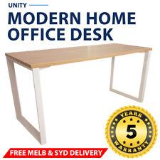 Unity Modern Home Office Desk White Frame New Oak Desk Top