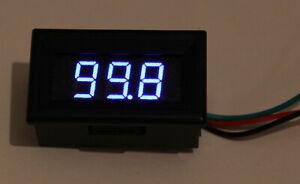 Voltmeter 3 Digits LED Blue 0 - 1000 V IN 2 Ranges Automatic