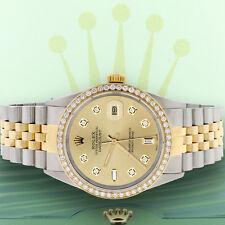 Rolex Datejust 2-Tone Gold/Steel 36mm Jubilee w/Champagne Diamond Dial & Bezel