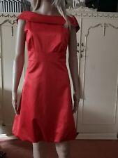 Impresionante Karen Millen Naranja Rojo Vestido Talla 10 ad81b30454aa2