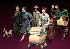 1/35 figuras de modelo de resina civiles Segunda Guerra Mundial Kit (Set Grande)