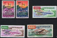GUINEA 1960 49-53 201-02 C24-26 Olympics Rome Rom ÜD Aircarfts ovp Flugzeuge MNH