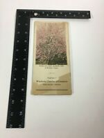 Vintage Antique Winchester , Virginia Apples  Map Chamber of Commerce