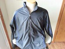 Nike Golf Dri Fit full zip black golf jacket w/royal blue trim - NWT - mens L