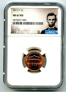 2017 P US MINT CENT UNION SHIELD NGC MS67 RD LINCOLN LABEL SUPER HIGH GRADE
