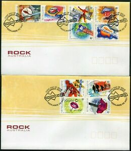 Rock Australia 2001 Set of 2 FDC First Day Cover