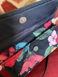 New Vera Bradley Iconic RFID All In One Crossbody Bag Wristlet in Havana Rose