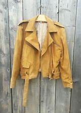 Gorgeous Vintage Soft Suede Leather Biker Jacket Oversized Drapey Free People 12