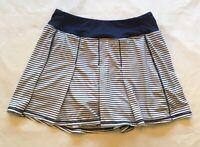 Kyodan Women's Navy White Pleated Striped Athletic Golf Tennis Skirt Skort  P/S