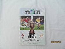 Wales v Australia. Rugby World Cup 1999. Quarter- Final.