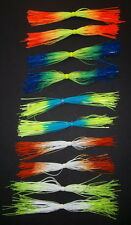10 Custom Made Silicone Spinnerbait Skirts(Variety Fire Tip #1)-Bass Fishing-NEW