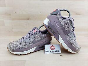 Air Max 90 Premium Plum Safari Purple Sneakers 443817-500 - Women's Size 7.5