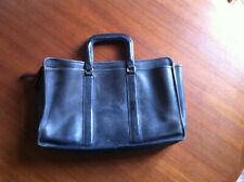 Vintage COACH USA Made Men's Black Leather Briefcase Laptop Bag