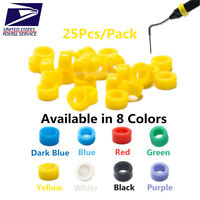 25 Pcs Easyinsmile Dental Large Hygienist Silicone Color Code Rings Autoclavable