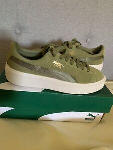 Suede Green Platform Puma Size 4