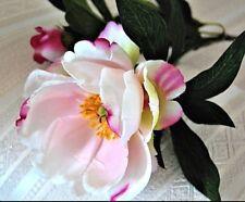 "Pink ""Watercolour"" Silk Magnolia Bloom 12"" Stem  - JaNice Interiors Botanicals"