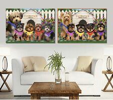 Spring Dog House canvas Wall Art Decor, Dogs, Cats, Pet photo canvas