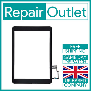 iPad 5 A1822 / iPad Air A1474 Touch Screen Replacement Digitizer Black UK Stock