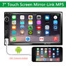 """7""""  2 Din Car Android MP5 Player Bluetooth Touch Screen FM Mirror Link Stereo"""