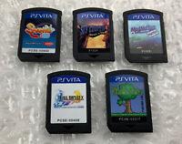 Lot of 5 PS Playstation Vita Games (Final Fantasy X, Sly Cooper, Shantae) Carts