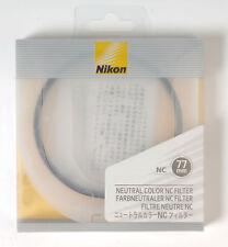 NC neutrale Farbfilter 77mm UV  Schutz für Nikon NEU