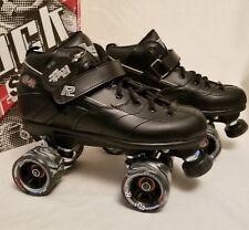 Sure-Grip Rock Gt-50 Black Roller Skates Mens Size 8 Women 10 Euc R.O.C.K