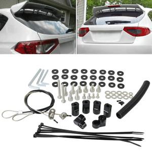 For 2008-2014 Subaru WRX STI Hatchback Rear Roof Wing Spoiler Riser Extender Kit