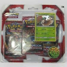 Pokemon Sun & Moon 3 Pack BLISTER Booster Cards + 1 Coin DECIDUEYE Promo