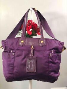 MARC BY MARC JACOBS Preppy Nylon Eliz-a-baby Diaper Bag in Purple