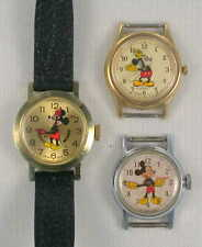 3 Non Working Mickey Mouse Watches - Ingersoll, Lorus, Bradley