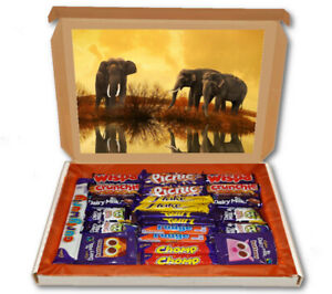 Elephants Africa Animal 24 Bar Cadbury Chocolate Hamper Personalised Gift Box