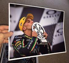 Firmado Andrea Migno Moto 3 Mugello ganar champán Letra Grande.