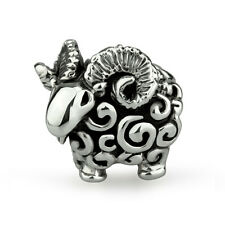 Year of the Ram 2015 Genuine Solid Sterling Silver Charm OHM Bead AAA039