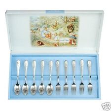 PETER RABBIT Cutlery Coffee Spoon x 5 and Fork x 5 Set from ASAHI made in Japan