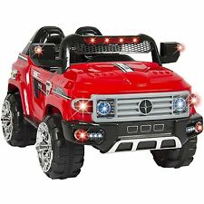Ride On Suv Car 12V Battery Power W Remote Control Led Lights Mp3 Kids Gift Red