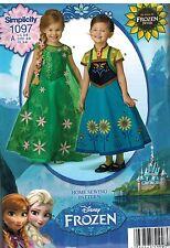 1097 Uncut Simplicity Cartamodello Anna Elsa Frozen Abito Halloween Costume Ff