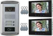 2 Familias Videoportero Interfono Timbre Bajo Revoque 2 MONITORES