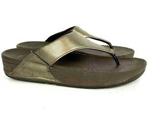 Fit Flop 9 Lulu bronze womens flip flop wedge sandal brown 288-012