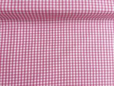 """NEW 1/8"""" GINGHAM PolyCotton FABRIC PINK Checked Craft 50 cm Wide Reduced Price"""
