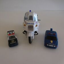 3 véhicules miniatures vintage collection moto voitures police