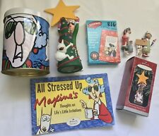 Hallmark Maxine Lot Christmas Ornaments Book Tin Tree Topper Cards
