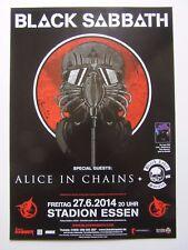 Black Sabbath Konzert Plakat/Essen, Deutschland 2014/+ Alice in Chains