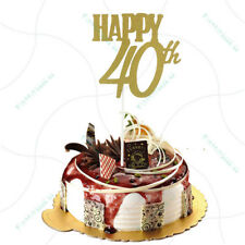 happy 40th cake toppers anniversary party supplies birthday party decoration GX